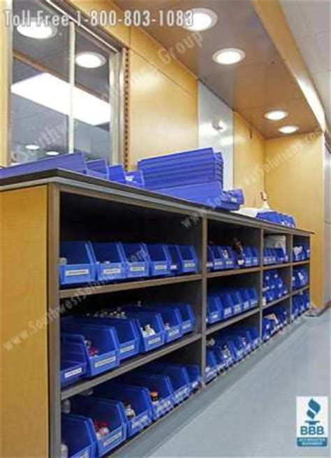 Pharmacy Movable Casework Cabinets   Medical Millwork