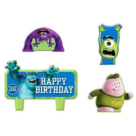 time disney monsters molded mini character birthday candle set pack of 4