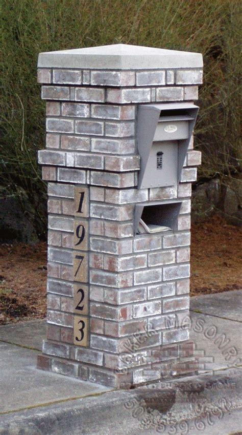brick mailboxes brick mailbox home ideas