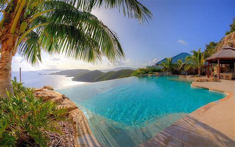 imagenes hd vacaciones naturaleza paisaje resort piscina palmeras mar