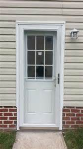 Garage Entry Door Smooth Fiberglass 9 Lite With Grilles Between Glass Side