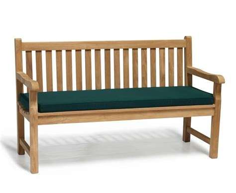 5ft garden bench cushion windsor teak 5ft garden bench