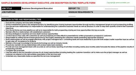business development description business development descriptions