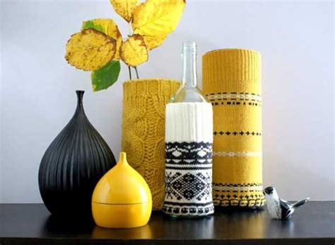 ways  add knitted decor   winter home decorating