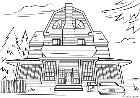 coloring pages of haunted house scary haunted house halloween coloring pages printable