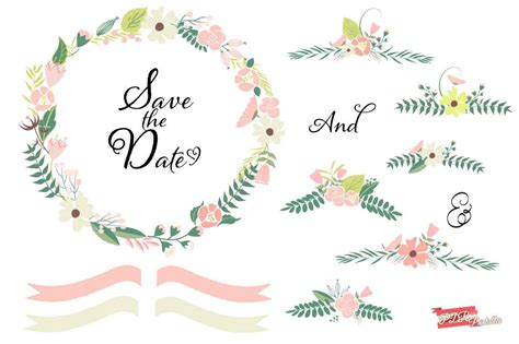 floral wedding clipart wedding clipart flower pencil and in color wedding