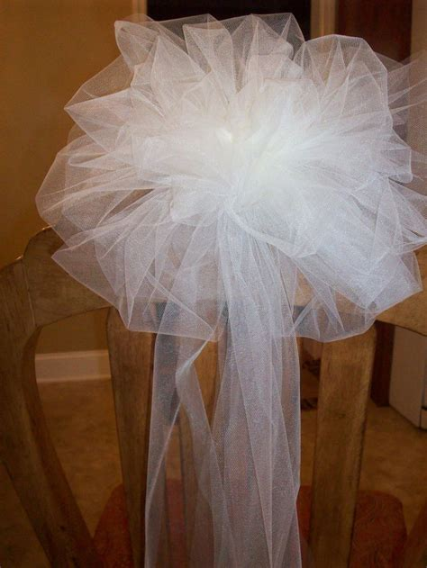 Wedding Decor With Tulle by 25 Tulle Pew Bows Ideas On Church Pew