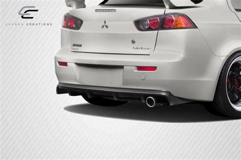 mitsubishi lancer rear diffuser 08 15 mitsubishi lancer mpower carbon fiber rear bumper