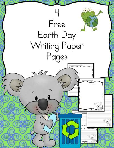 earth day writing paper free earth day writing pack free homeschool deals