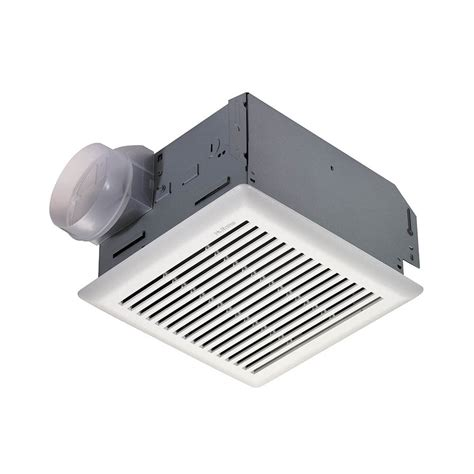 shop nutone 3 sone 90 cfm polymeric white bathroom fan at