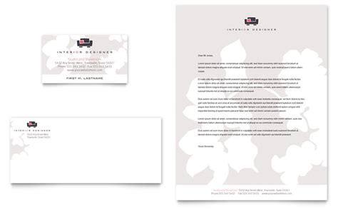 interior design business cards templates free interior designer business card letterhead template