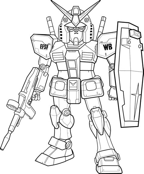 gundam coloring page mobile suit gundam wing free colouring pages