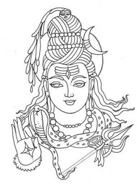 coloring pages of indian gods hindu mythology 7 gods and goddesses printable