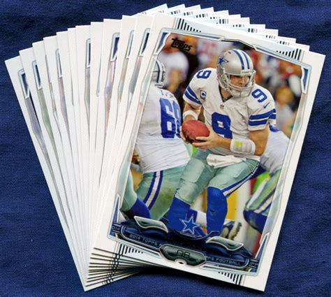 dallas cowboys cards 2014 topps dallas cowboys nfl football card team set