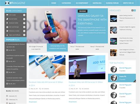bt metro joomla template free download priorityor