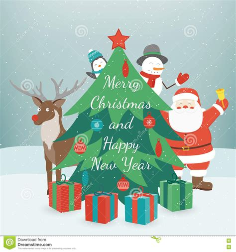 greeting christmas   year card merry christmas  happy  year wishes vector stock