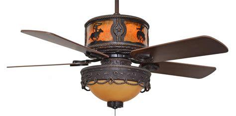 Western Ceiling Fans With Lights Cc Kvshr Brz Lk510 Rodeo Western Ceiling Fan With Light Kit