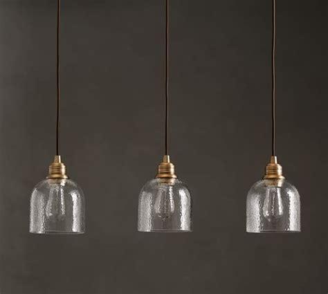 pb classic textured glass  light pendant pottery barn