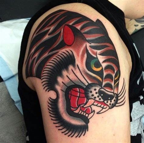 old school tiger tattoo school tiger by ben rorke ideas
