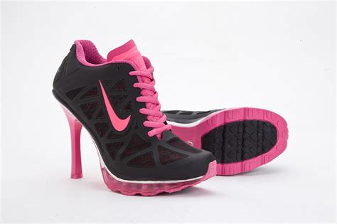 nike high heeled sneakers womens nike air max 95 high heel sneakers black pink