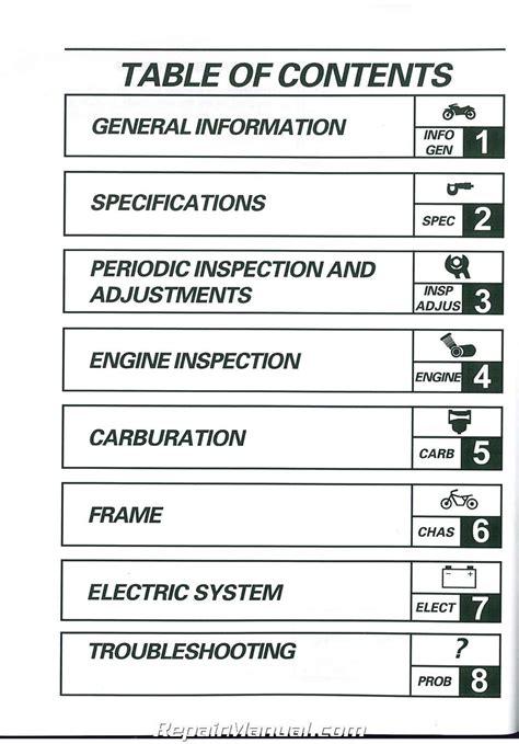 yamaha ttr motorcycle service manual