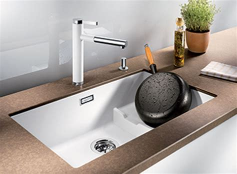 White Sink Silgranit Single Bowl 2 Level Undermount Sink White