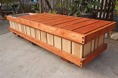rolling storage bench rolling bench planter container modern storage bins and boxes los angeles