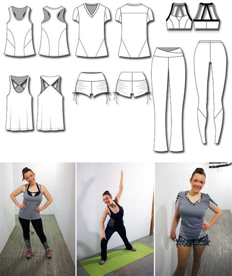 Pattern For Exercise Clothes | make your own 7 piece workout wear collection sewing