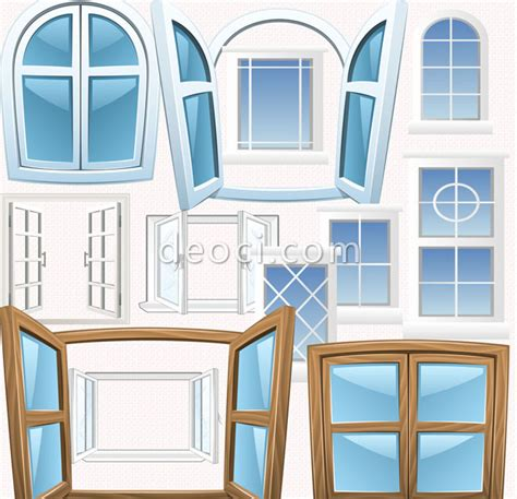 10 Cartoon style windows PHOTOSHOP design templates PSD