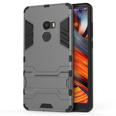 Ironman Casing Hardcase ironman armor hardcase for xiaomi mi mix 2 gray
