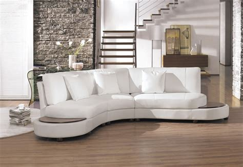 White Leather Modern Sofa 2229bc Modern White Leather Sectional Sofa