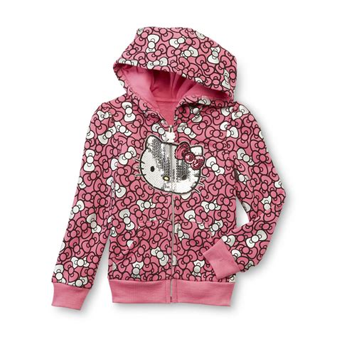 Hello Jkt Hoodie hello toddler s sequined hoodie jacket bows
