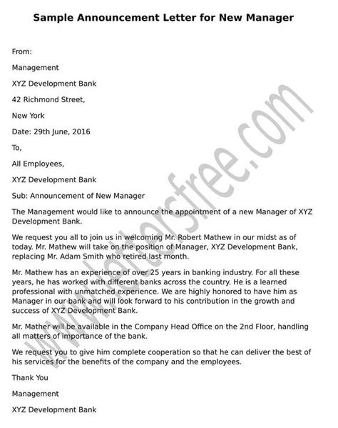 Sle Memo Announcement Of New Manager employee promotion announcement sles the 25 best