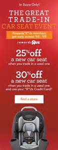 trading in a new car bru car seat trade in babies quot r quot us
