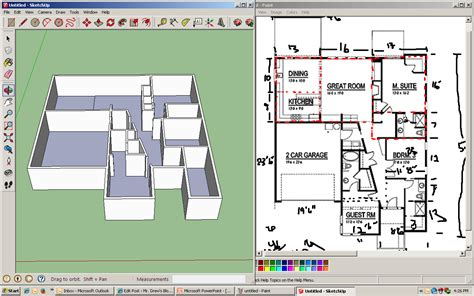sketch up floor plan 4th sketchup assignment dream house project mr drew s blog