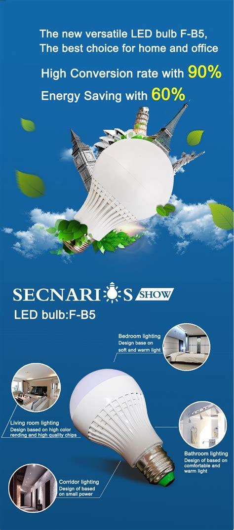 Taff Led Bulb Light E27 9w With Touch Sensor Lu Bohlam Sentuh l e27 9w led bulb light with heat sink one