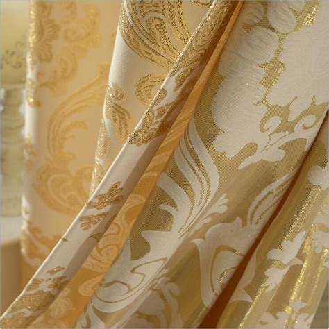 heavy gold curtains aubre jacquard window curtains heavy fabric with gold