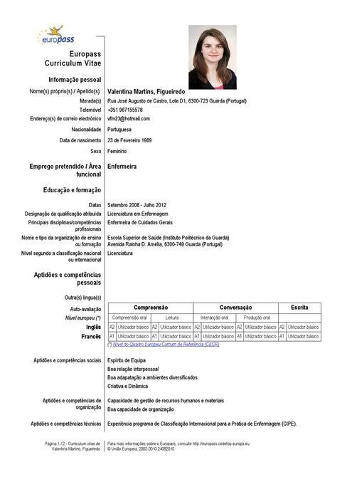 Modelo Curriculum Vitae Europass Español Curriculum By Valentina Martins Issuu