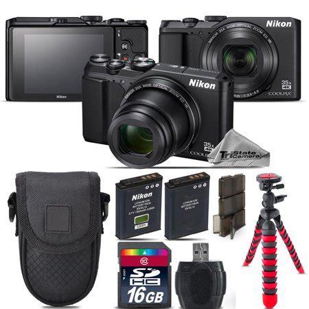 nikon coolpix  point  shoot digital camera black
