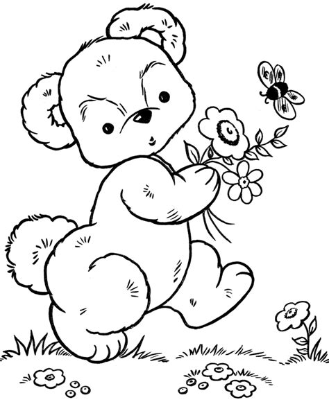 coloring pages stuffed animals stuffed animal coloring pages coloring home