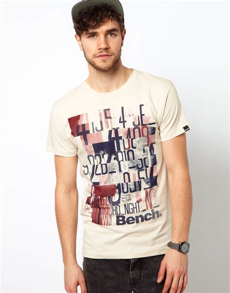 bench shirt for men bench graphic t shirt in natural for men lyst