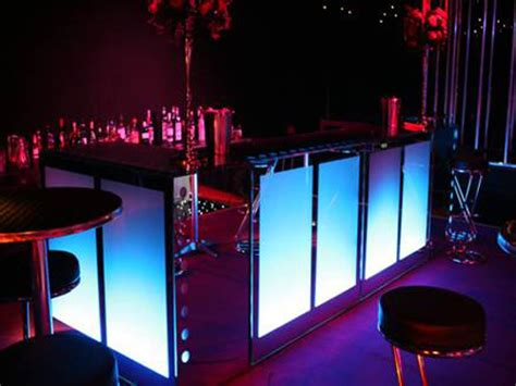 Illuminated Bars event solutions bar hire illuminated bars mirrored