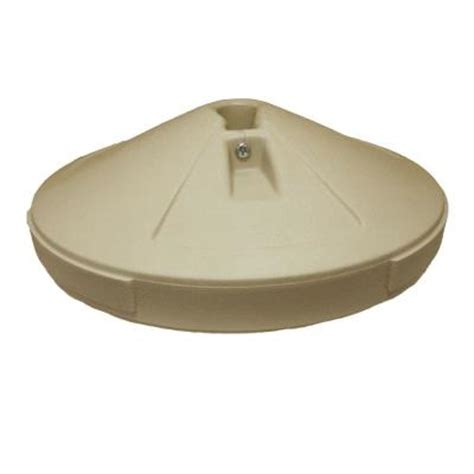 Patio Umbrellas Base Patio Umbrella Base In Taupe 98600110 The Home Depot