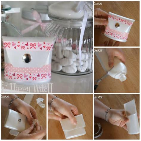 riciclare bicchieri di plastica astuccio con i flaconi di plastica riciclati tutorial