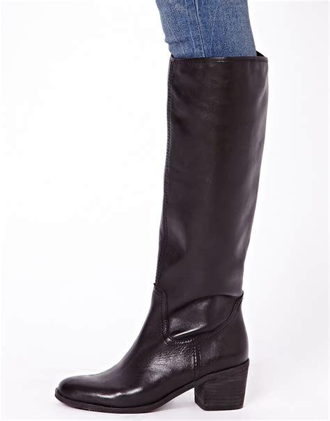 sam edelman boots asos sam edelman loren heeled boots in black lyst
