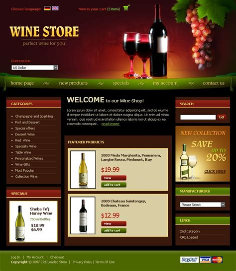 wine cre loaded template 15282