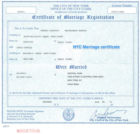 Marriage Records New York City New York Apostille Apostille Service By Apostille Net