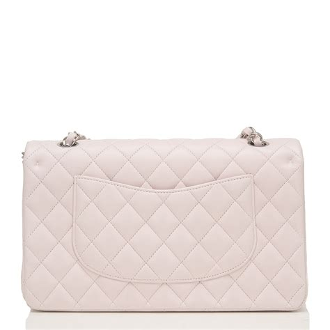 chanel light pink quilted lambskin medium classic