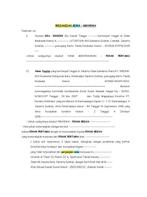 contoh perjanjian sewa menyewa rumah pdf file blstaff