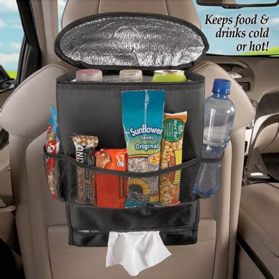 Cooler Seat Pocket back seat multi pocket car organizer with cooler from